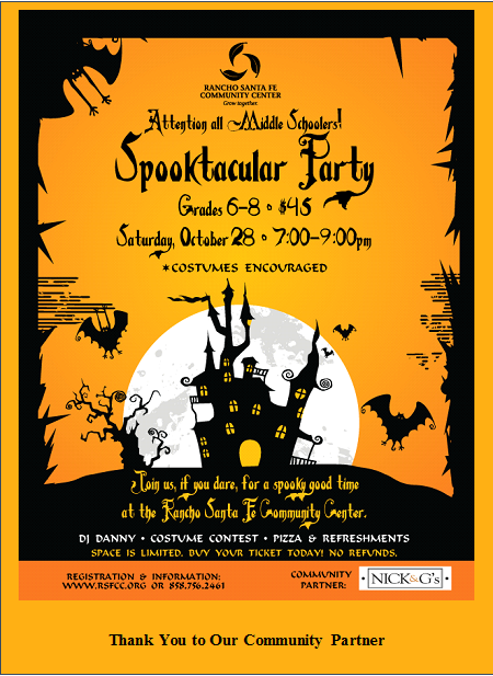 Rancho Santa Fe Association - Calendar Event - Middle School