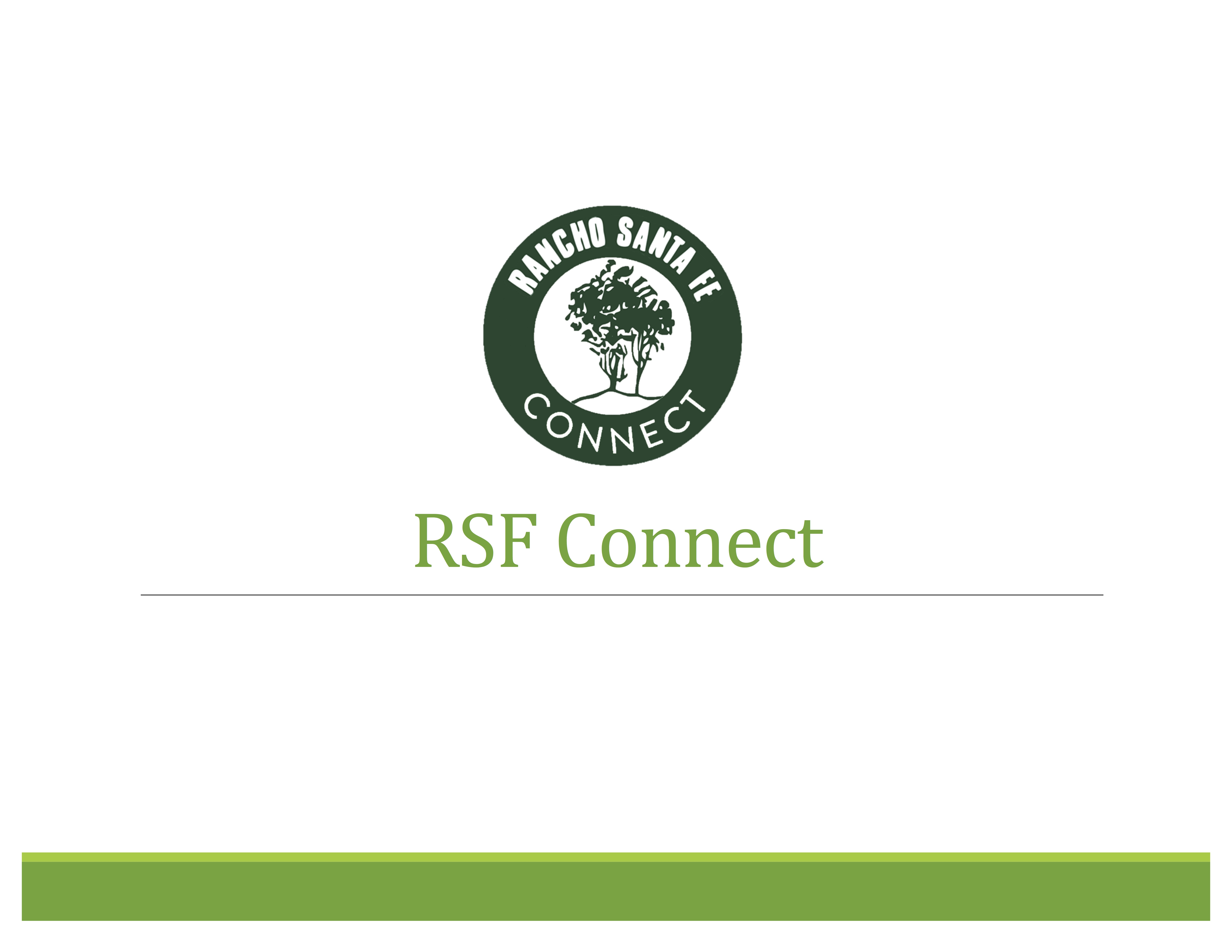 Annual Meeting Presentation on RSF Connect